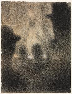"Georges Seurat, ""Café-concert"", クリーブラント美術館"