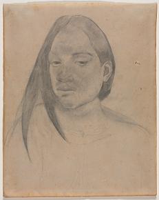 "Paul Gauguin, ""Head of a Tahitian Woman"", クリーブラント美術館"