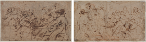 """Peter Paul Rubens, """"The Feast of Herod (recto) Tomyris with the Head of Cyrus (verso)"""", クリーブラント美術館"""
